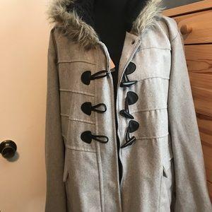 YOKI Gray faux fur coat